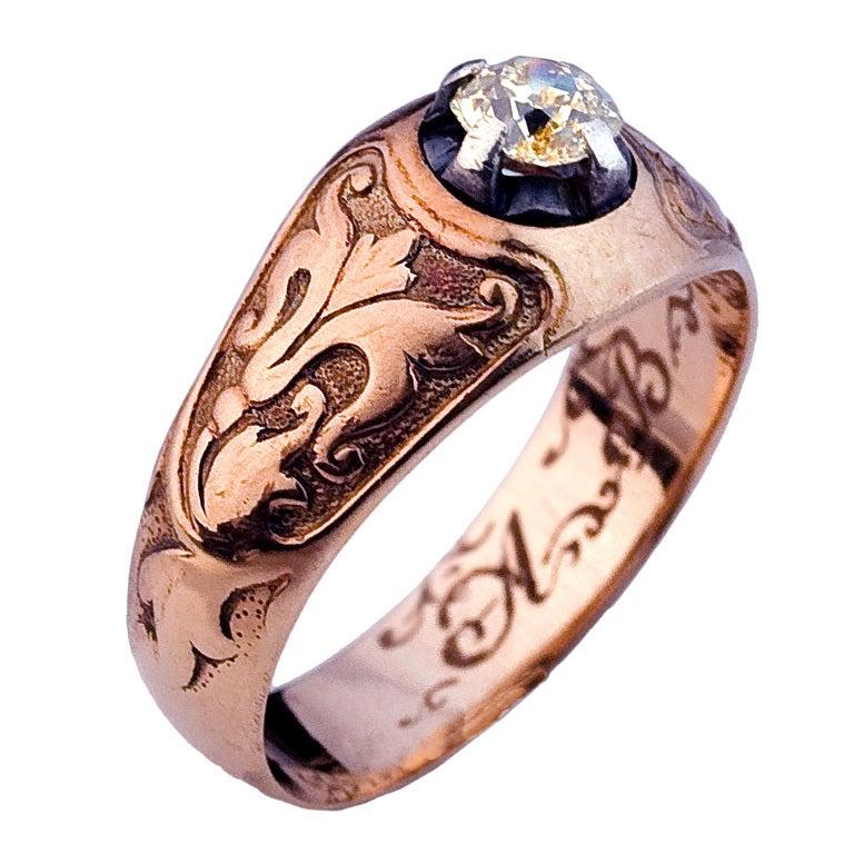 Mens Diamond Rings Antique