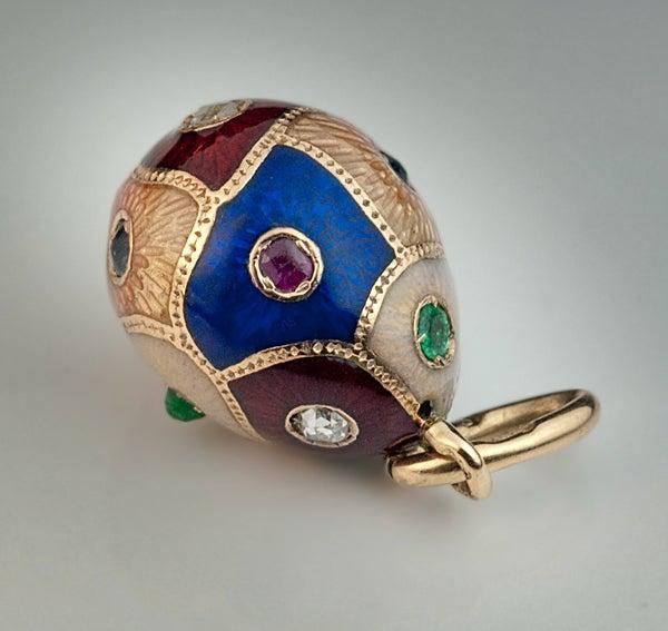 Antique faberge egg pendant c 1890 at 1stdibs antique faberge egg pendant c 1890 for sale 4 mozeypictures Gallery