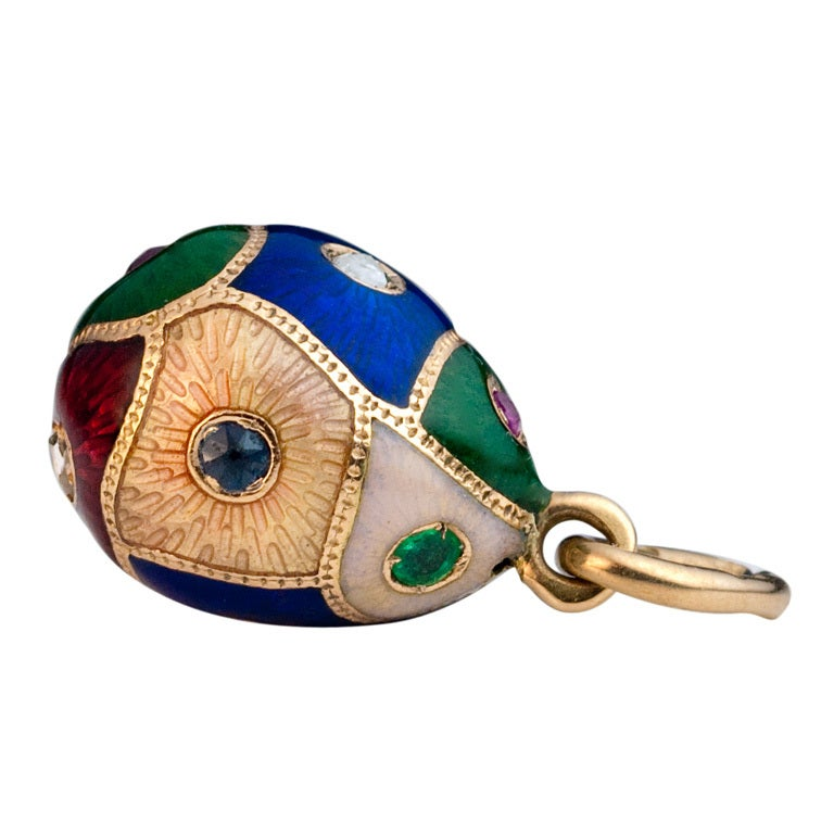 Antique faberge egg pendant c 1890 at 1stdibs antique faberge egg pendant c 1890 for sale aloadofball Images