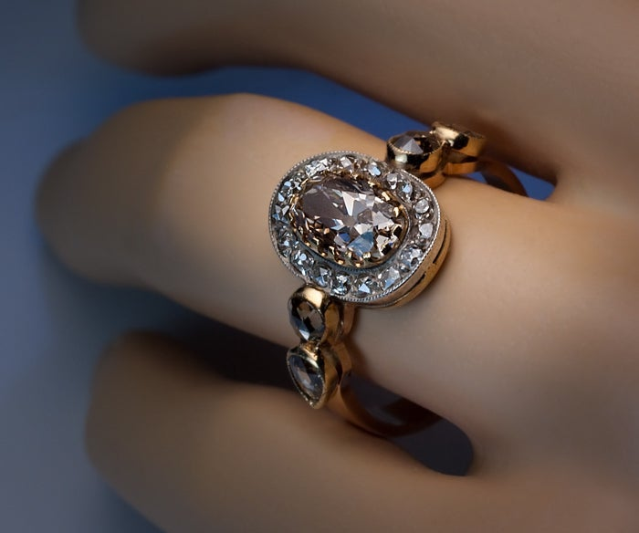 antique fancy colored engagement ring at 1stdibs