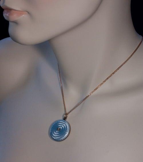 Antique Faberge Guilloche Enamel Locket Pendant 2