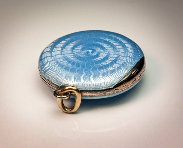 Antique Faberge Guilloche Enamel Locket Pendant 5