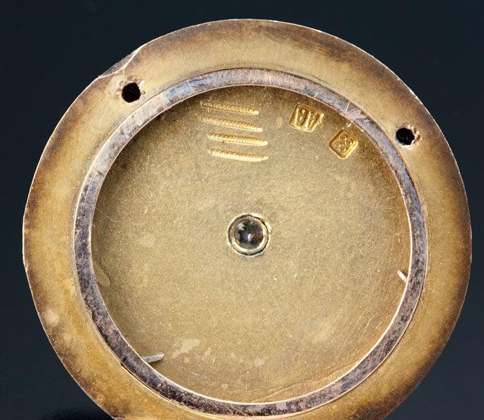 Antique Faberge Guilloche Enamel Locket Pendant 9