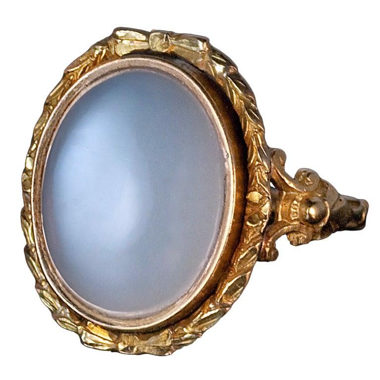 renaissance style antique moonstone ring