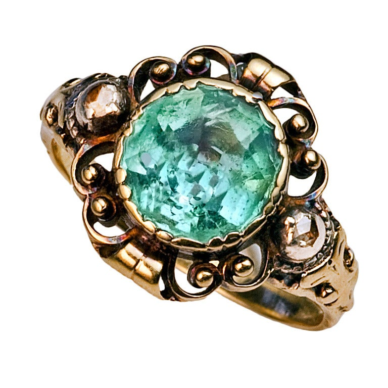 antique aquamarine ring at 1stdibs