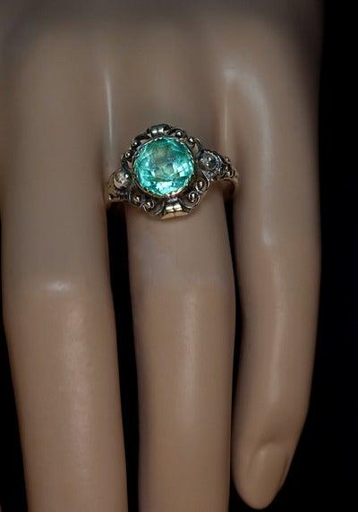 Antique Victorian Aquamarine Ring 2