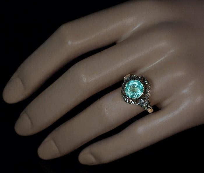 Antique Victorian Aquamarine Ring 3