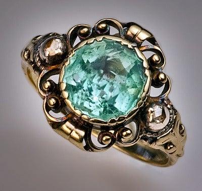 Antique Victorian Aquamarine Ring 4