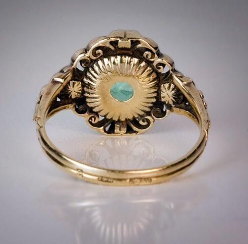Antique Victorian Aquamarine Ring 5