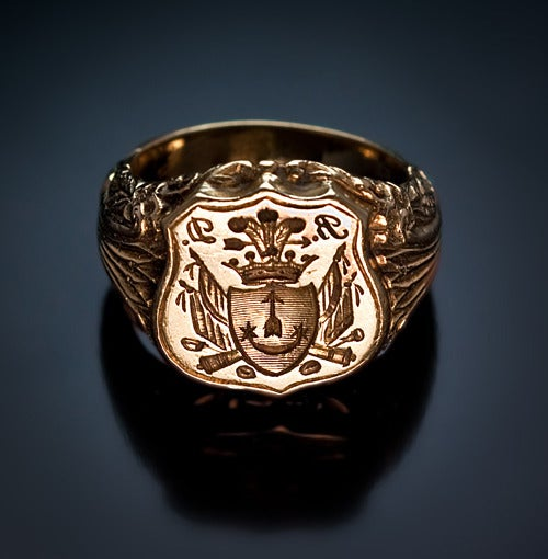 Antique Russian Signet Gold Ring c. 1840 image 2