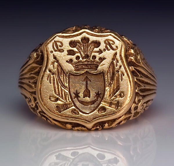 Antique Russian Signet Gold Ring c. 1840 4