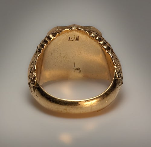 Antique Russian Signet Gold Ring c. 1840 5