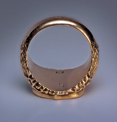 Antique Russian Signet Gold Ring c. 1840 image 6