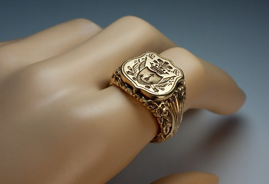 Antique Russian Signet Gold Ring c. 1840 8