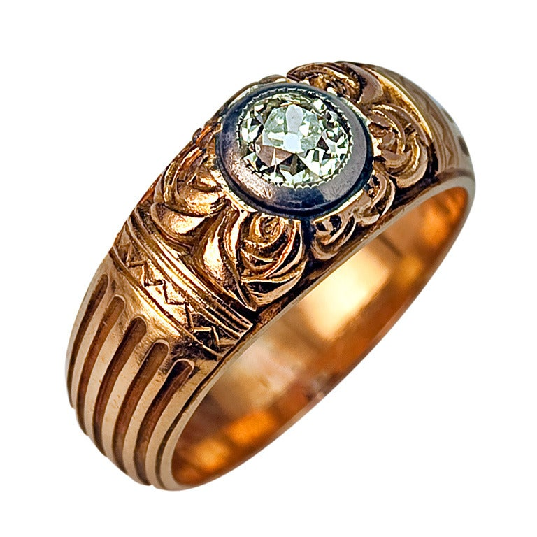 antique russian solitaire s ring at 1stdibs