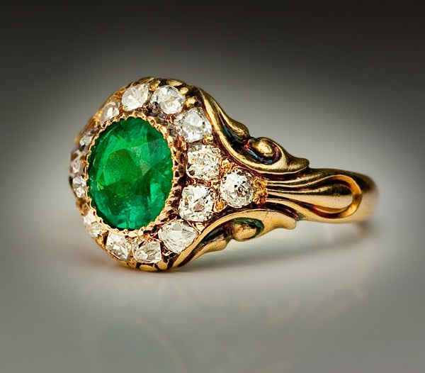 antique russian emerald ring c 1850 at 1stdibs