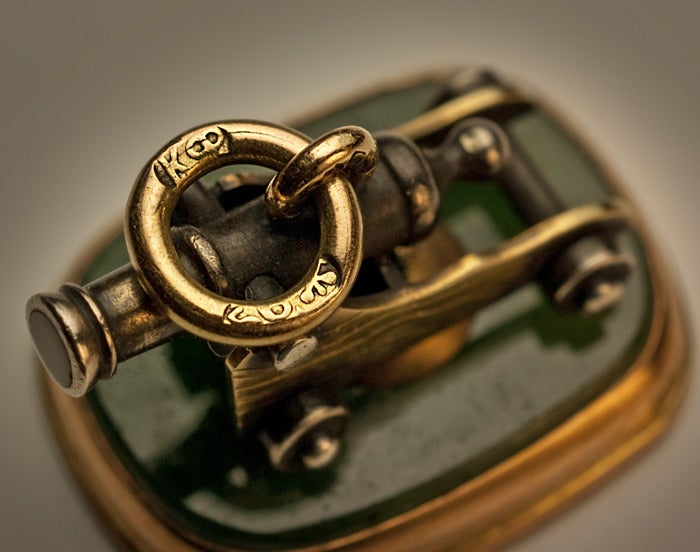 Antique Russian Watch Fob By Faberge At 1stdibs