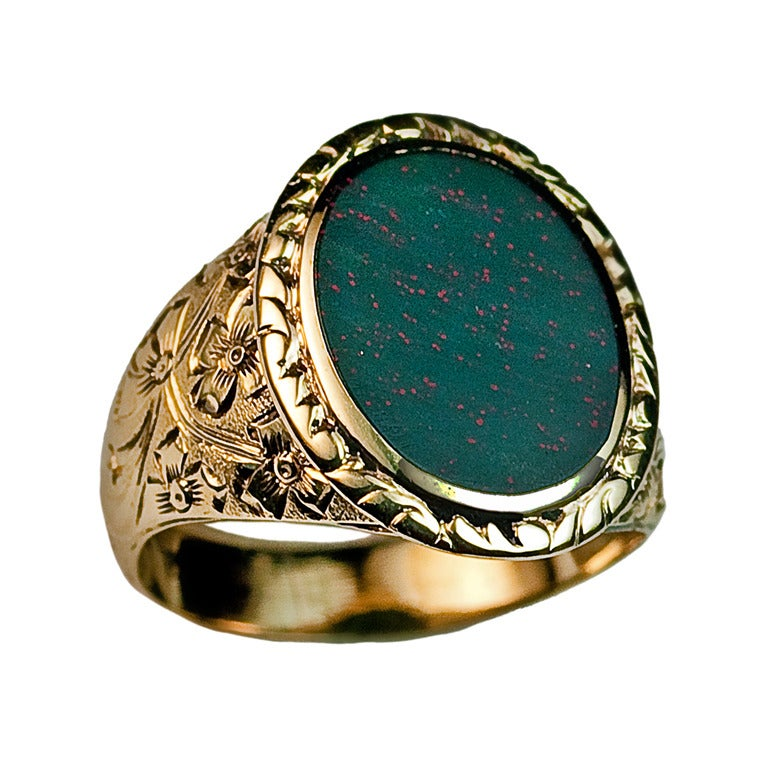 antique bloodstone ring c 1880 at 1stdibs