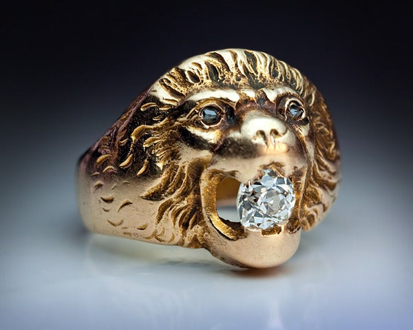 Antique Russian Lion Ring At 1stdibs
