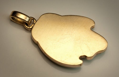 Art Nouveau Guilloche Enamel Gold Pendant 5