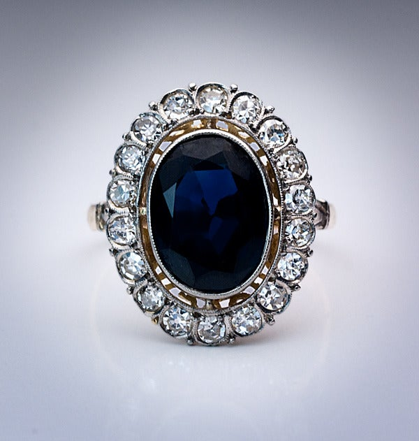 antique sapphire engagement ring at 1stdibs