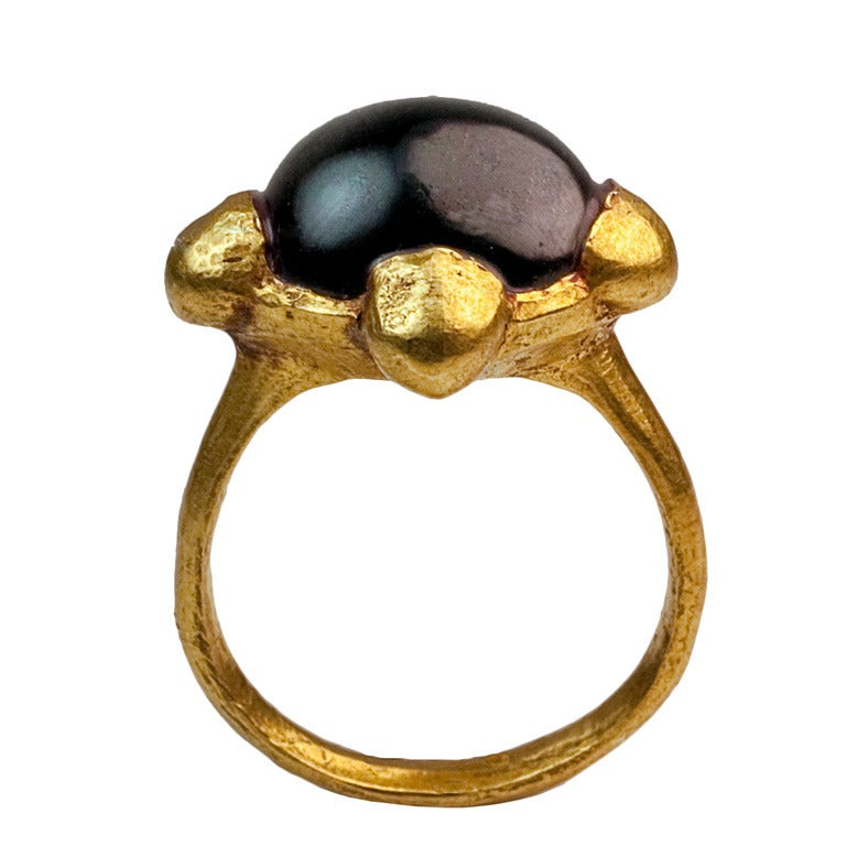 Antique Museum Quality Early Me val Byzantine Gold Ring For Sale