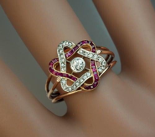 Antique Diamond And Platinum Eternity Rings