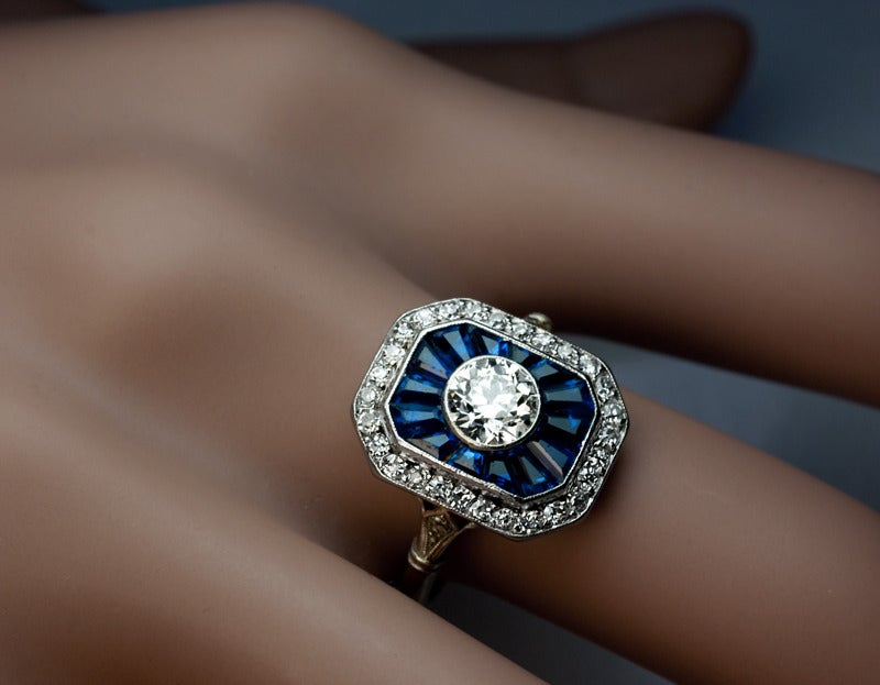 jewelry category deco engagement rings