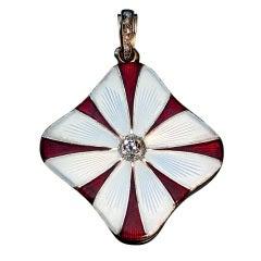 Carl Faberge Daisy Locket Pendant 1908-1917
