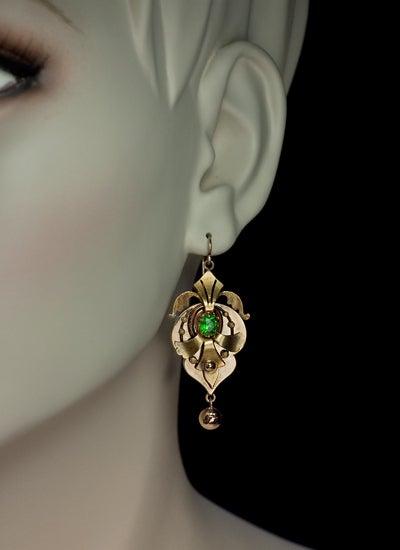 Victorian Era Russian Demantoid Earrings 1872 image 3