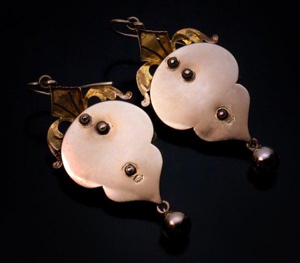 Victorian Era Russian Demantoid Earrings 1872 image 4
