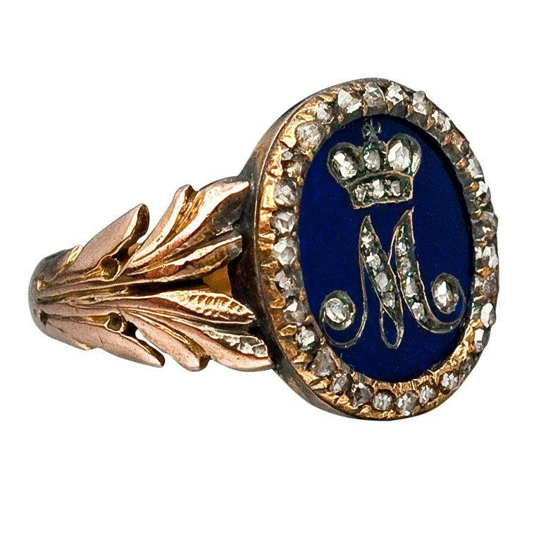 Royal Russian Diamond Gold Presentation Ring 1