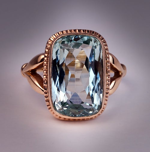 antique russian aquamarine gold ring at 1stdibs