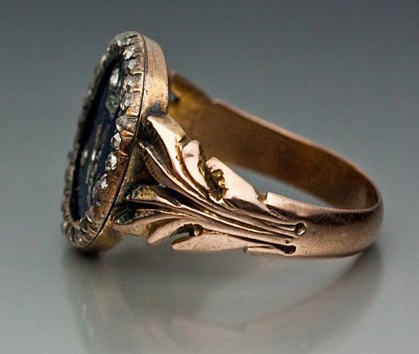 Royal Russian Diamond Gold Presentation Ring 3
