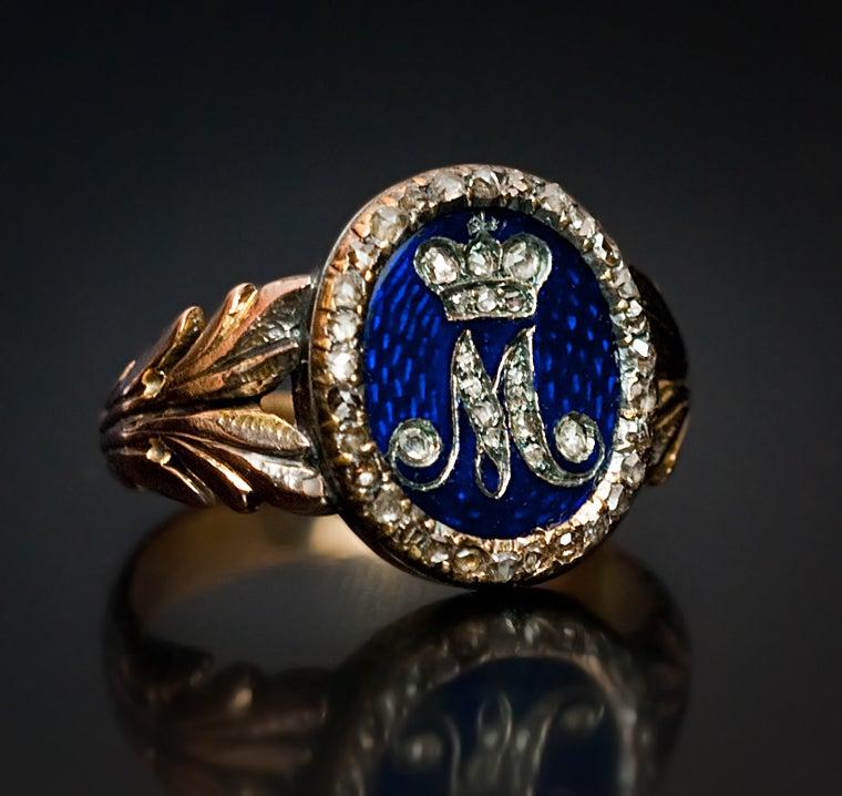Royal Russian Diamond Gold Presentation Ring 5