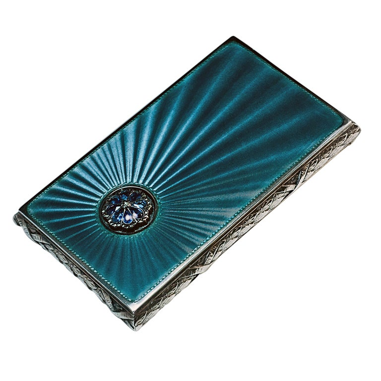 Antique Russian Guilloche Enamel Card Case At 1stdibs