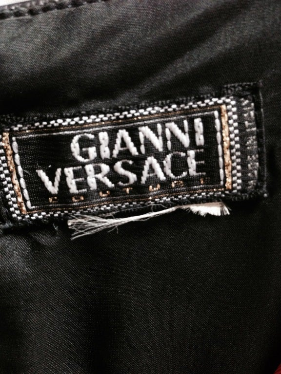 Gianni Versace Two-tone Black & Red Diva Evening Dress from 90'S 5