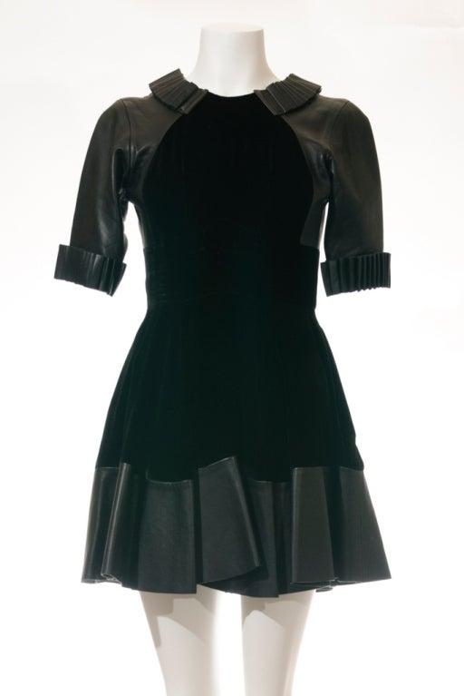 Christopher Kane dress in Black Leather & Velvet 2