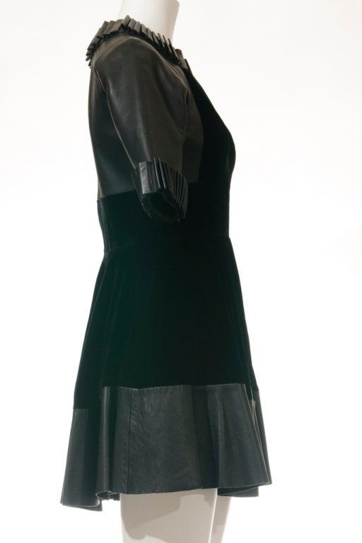 Christopher Kane dress in Black Leather & Velvet 5