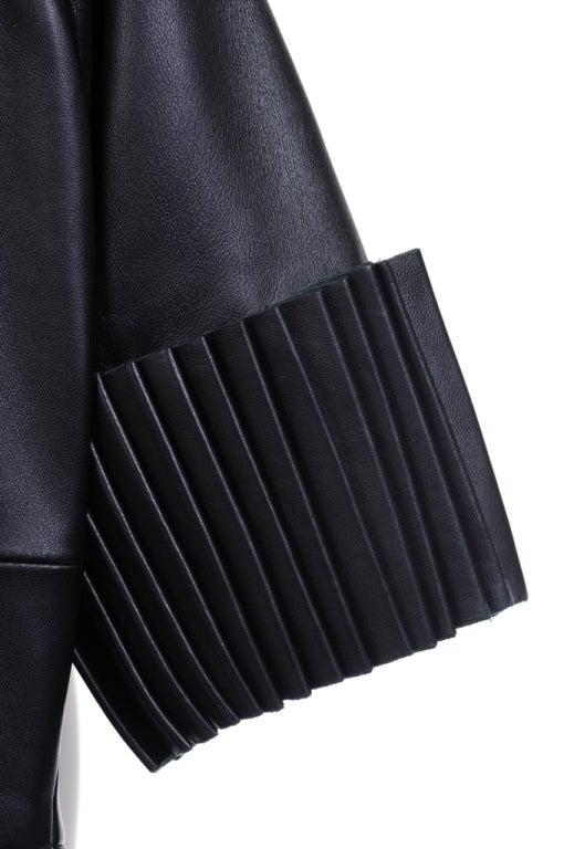 Christopher Kane dress in Black Leather & Velvet 6