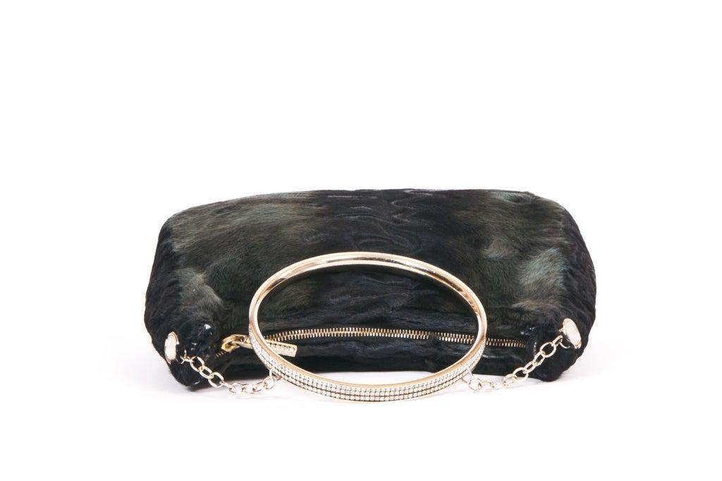 Lalique Astrakhan Evening Bag At 1stdibs