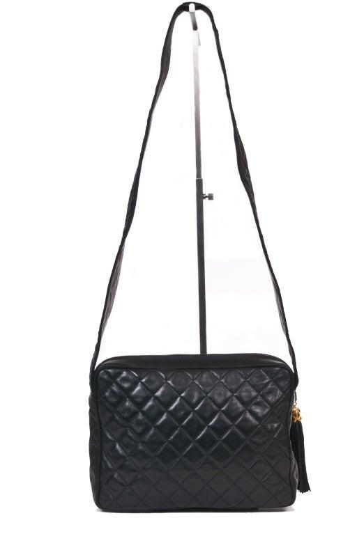Chanel Vintage Black Quilted Shoulder Leaather Bag 5