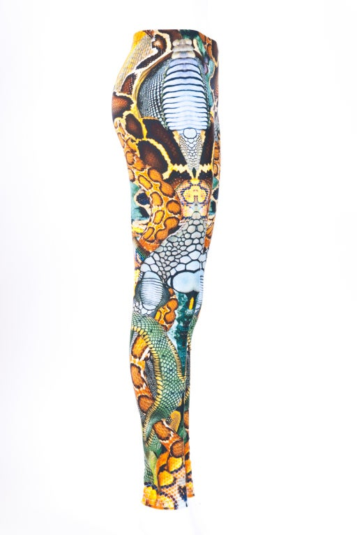 Alexander McQueen Leggings Green (Phyton) prints 4