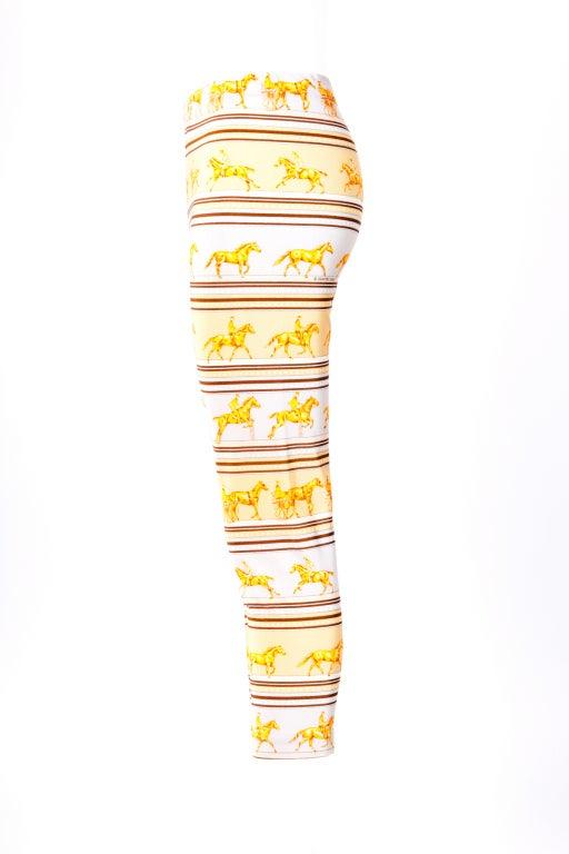 Hermes Yellow/Brown leggings 2