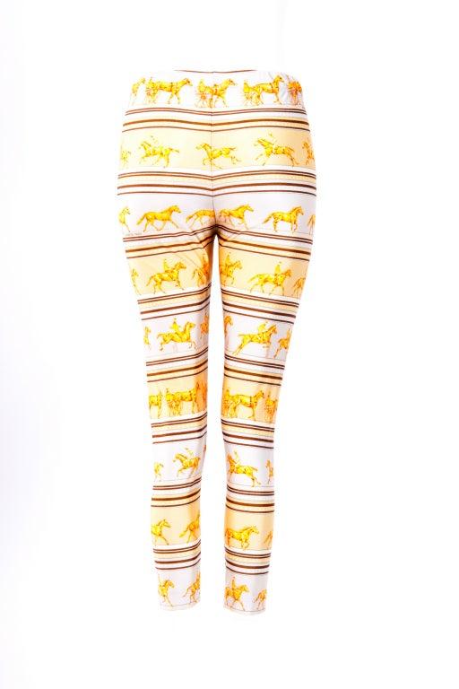 Hermes Yellow/Brown leggings 3