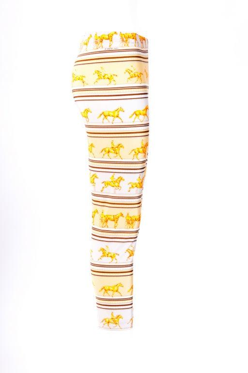 Hermes Yellow/Brown leggings 4