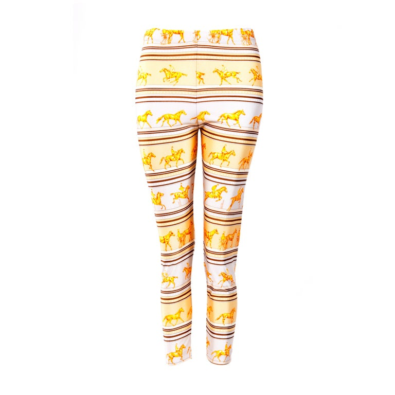 Hermes Yellow/Brown leggings 1