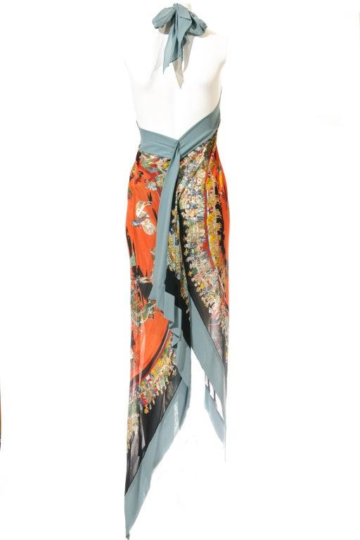 Hermes Cirque Molier Scraf Print Halter Dress 4