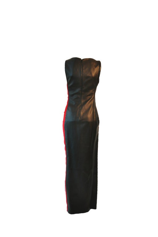 Gianni Versace Two-tone Black & Red Diva Evening Dress from 90'S 3