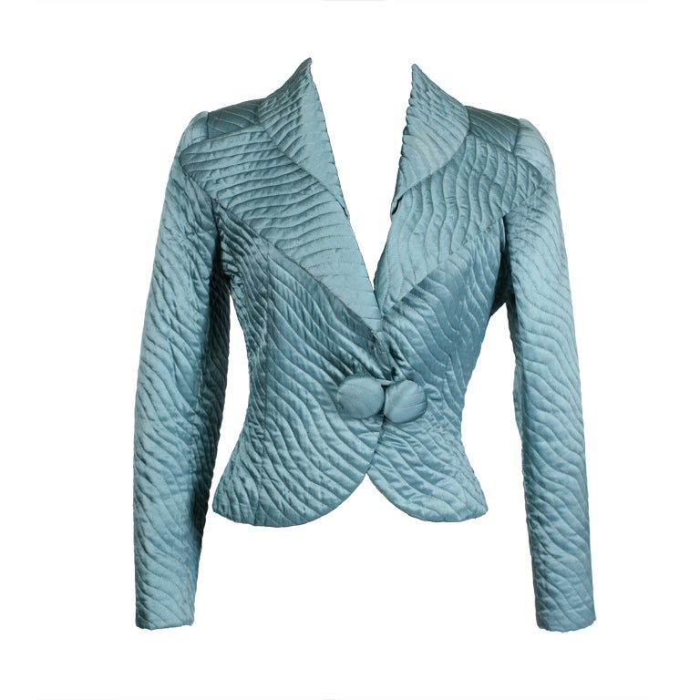 fendi blue quilted suit at 1stdibs